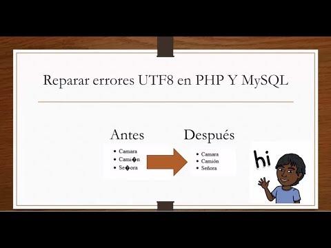 Reparar errores UTF8 en php y MySQL