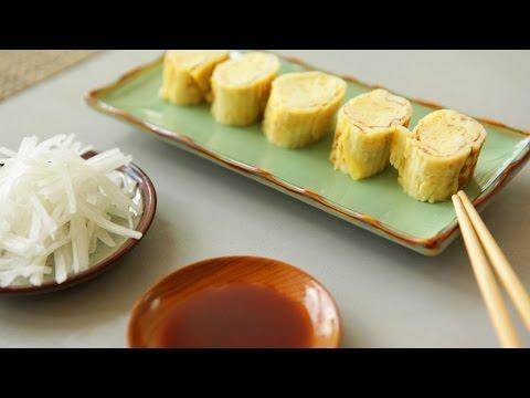 Rezept: Tamagoyaki (Japanisches gerolltes Omelett)