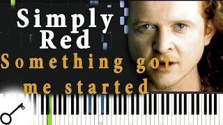Simply Red - Something got me started [Piano Tutorial] Synthesia | passkeypiano