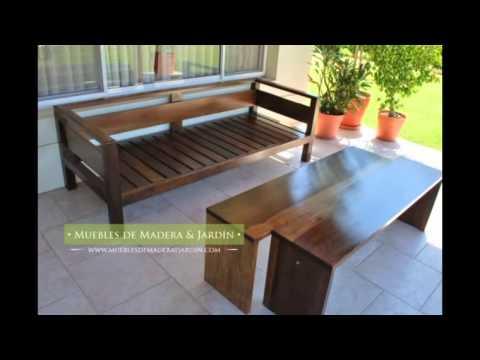 Sillones de tres cuerpos muebles de madera y jard n com for Sillones de jardin de madera