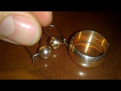 Золотое кольцо и серьги СССР 583 проба ПОДДЕЛКА