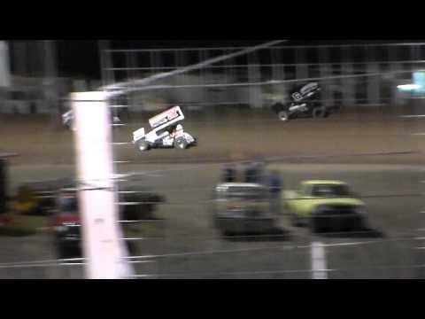 River Cities Speedway NOSA Sprint Car B-Main (9/11/15)