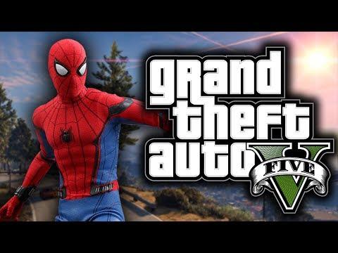 GTA 5 Mod Indonesia - SPIDERMAN GILA !!