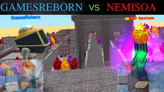 ROBLOX NEMISOA VS GAMESREBORN PART II - SUPER POWER TRAINING SIMULATOR