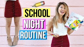 My REAL School Night Routine 2016!