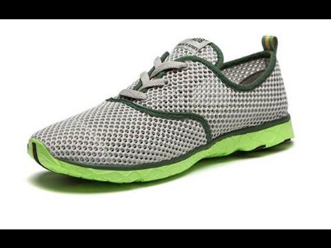 7f4218d6d49b NDB Men s Mesh Lace-Up Quick Drying Aqua Water Shoes Breathable Lightweight  Fashion Walking Shoes