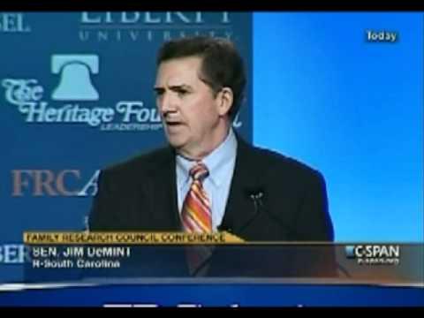 Social conservatism = Fiscal conservatism - Jim DeMint - Restoring America