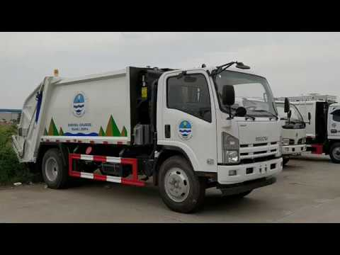 Philippinese NPR ELF 8cbm Garbage transport compactor truck Isuzu for sale