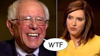 Bernie Sanders Laughs in Reporter's Face After She Unleashes Stupidity on Him