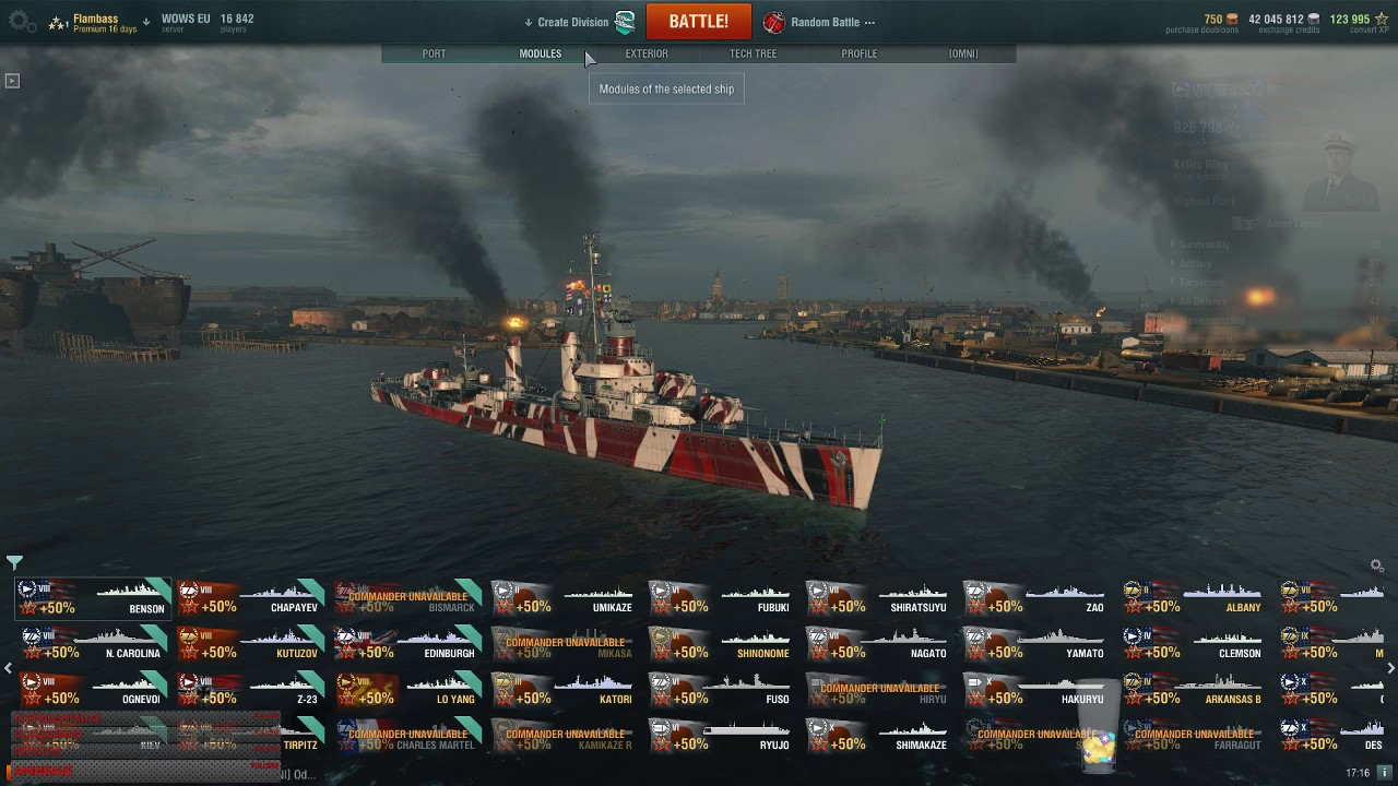 Wows mighty jingles captain