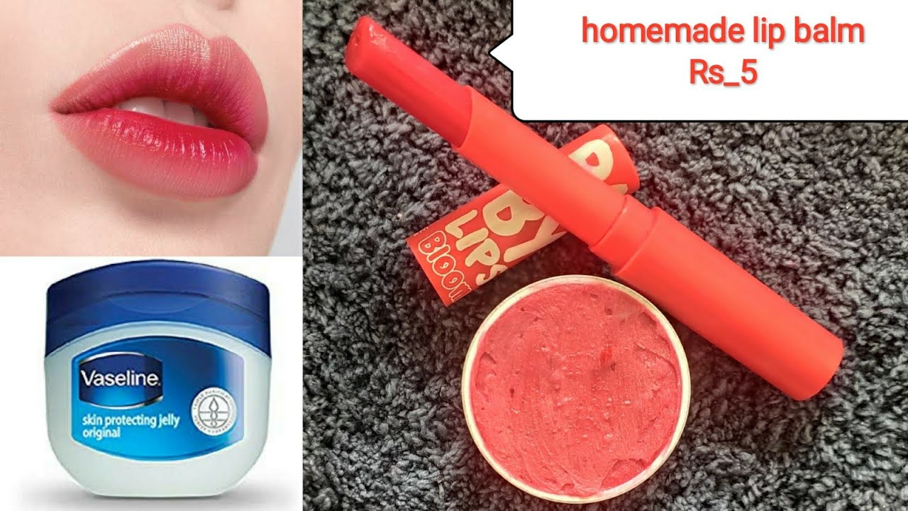 How to make lip balm at home| lip gloss| with Vaseline and ...