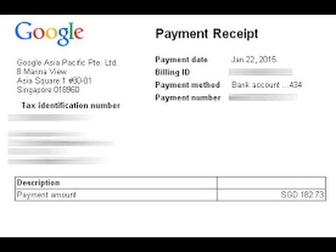 Google adsense Payment Proof 2017 YouTube – Proof of Payment Receipt