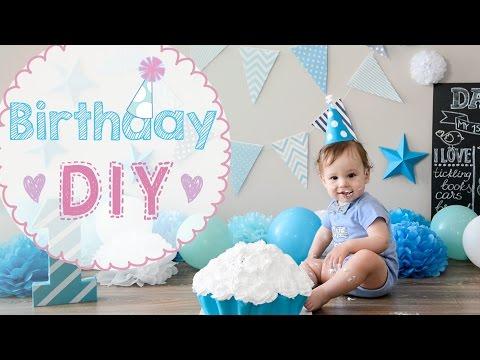 Как украсить комнату на день рождения ребенка 1 год мальчику