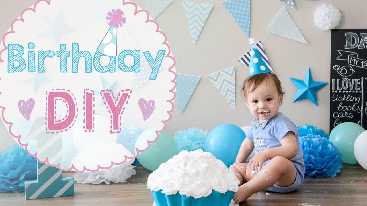 Diy ★ Первый день рождения Ребенку 1 год Youtube