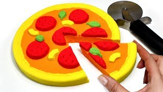 DIY Kinetic Sand Pizza How to Make Kinetic Sand Food Videos for Kids