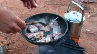 Over-landing Remote Lavender Canyon / Camping Food Firebox Stove Style!