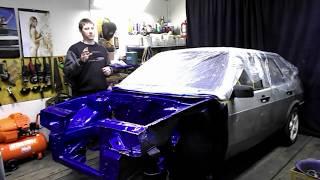 Покраска подкапотки ваз  2109 #2109autobot