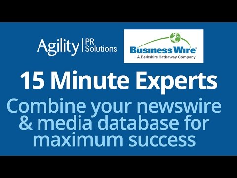15 Minute Experts: Combine your newswire & media database fo