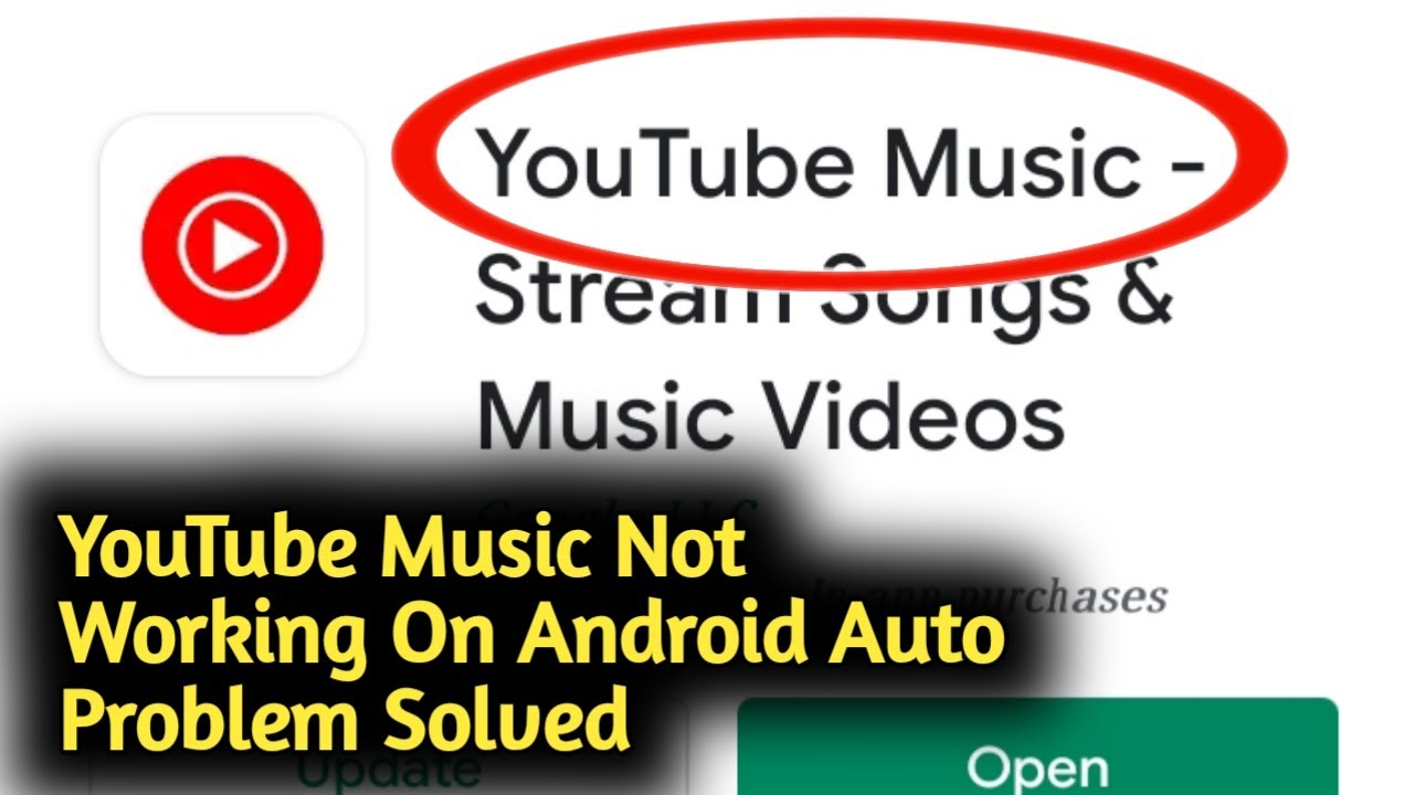Fix Youtube Music Not Working On Android Auto Problem Solved Youtube