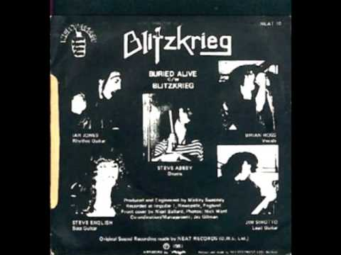 Blitzkrieg - Buried Alive - 7 inch single. 1981