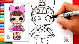 Cómo dibujar a FANCY GLITTER (LOL Surprise!) | How to Draw Fancy Glitter Doll