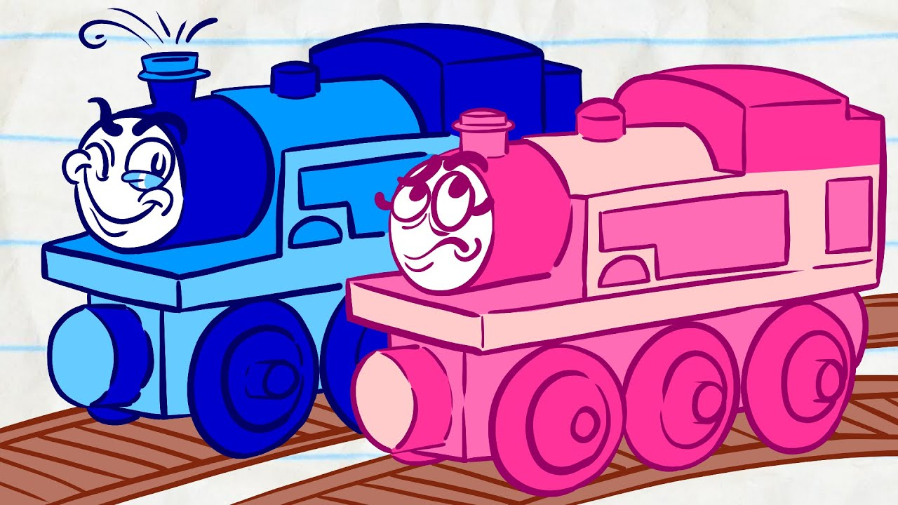 Pencilmate's Train Trouble! | Animated Cartoons Characters | Animated Short Films | Pencilmation