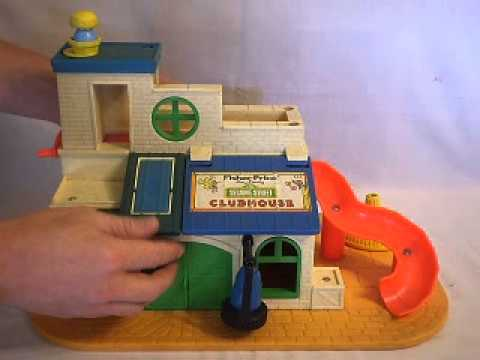 Vintage 1976 Fisher Price Sesame Street Clubhouse Set #937