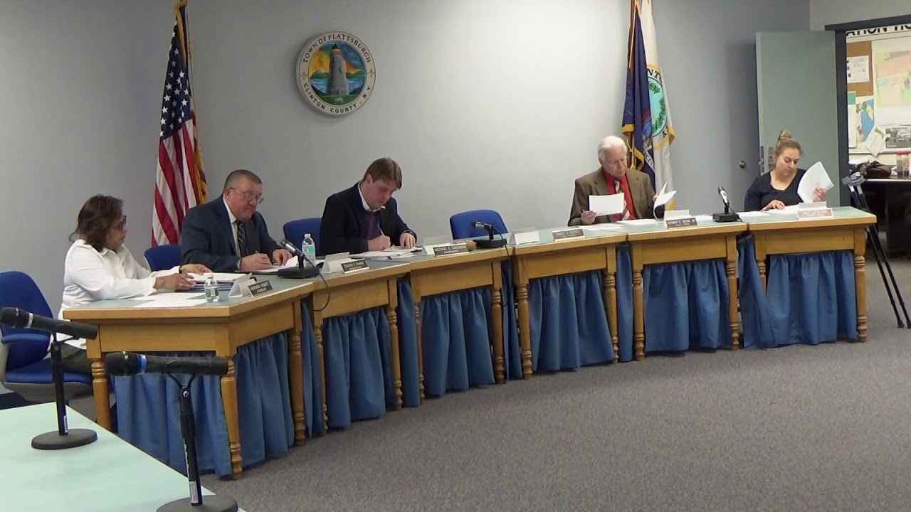 Town of Plattsburgh Meeting  4-5-18