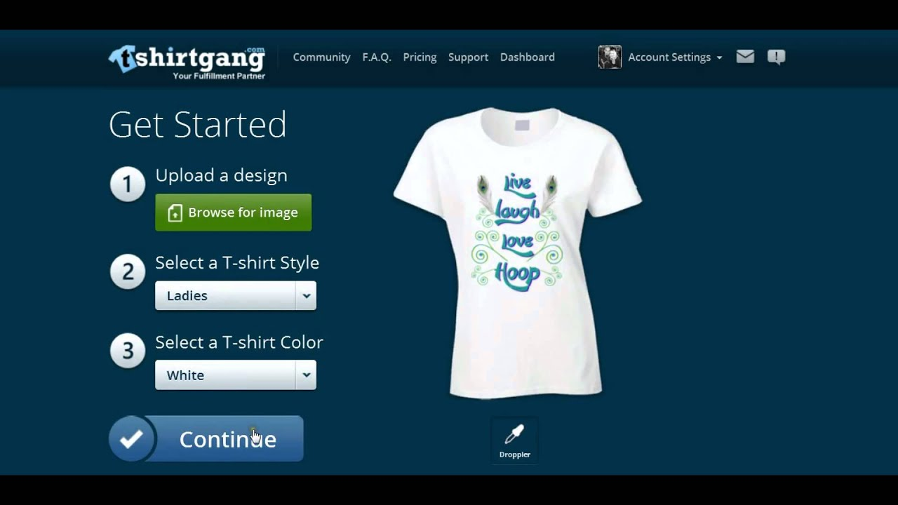 Design t shirt upload picture - Make A Shirt And Post To Etsy In Less Than 2 Mins With T Shirt Gang