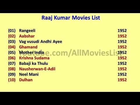 Raaj Kumar Movies List