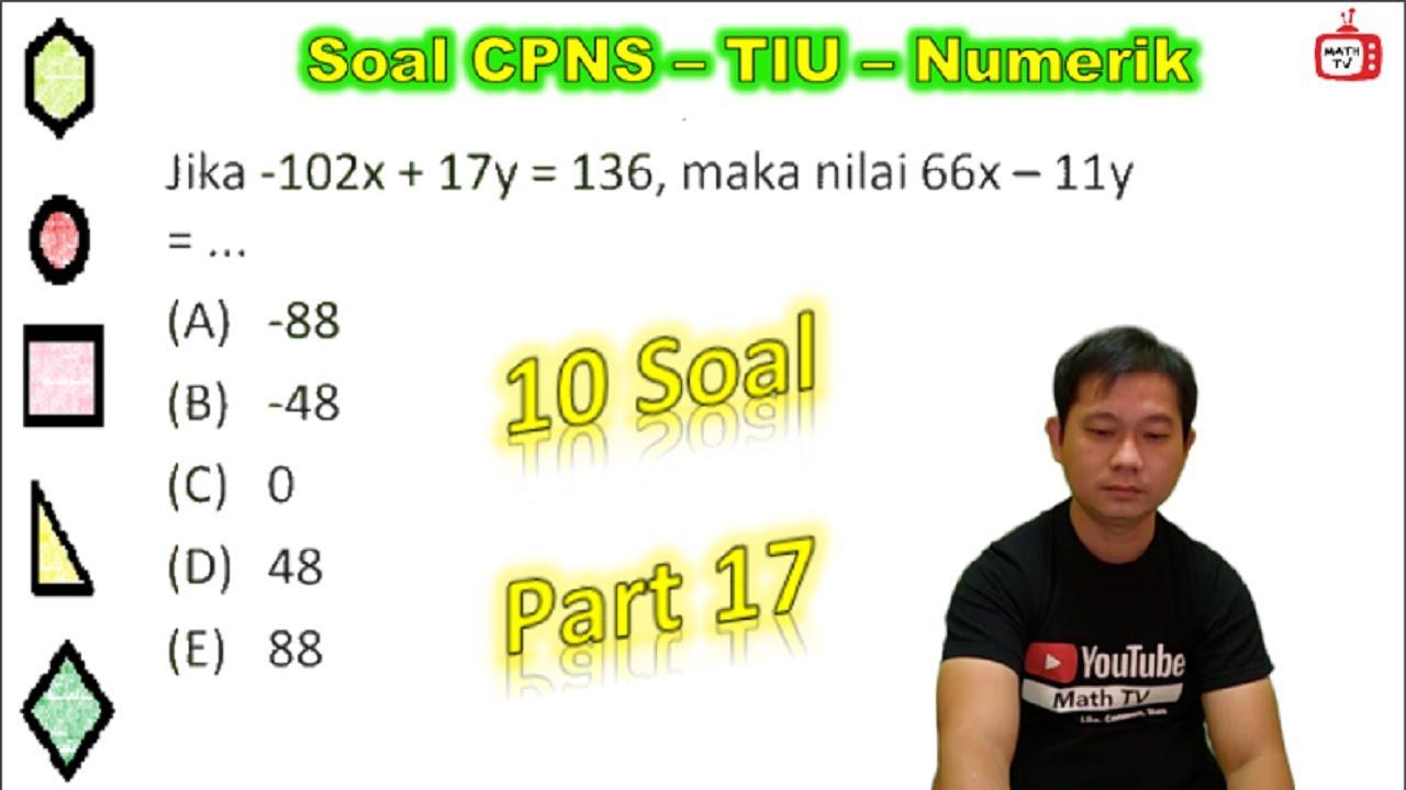Soal Tiu CPNS   Tes Intelegensi Umum   Numerik   SKD CPNS 2021 Part 16