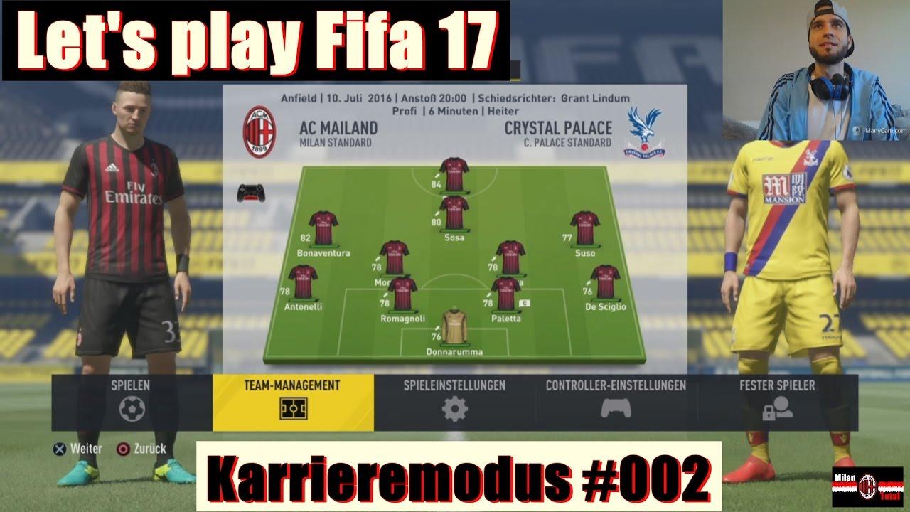 Let 39 s play fifa 17 karrieremodus ac milan 002 youtube for Fifa 17 milan