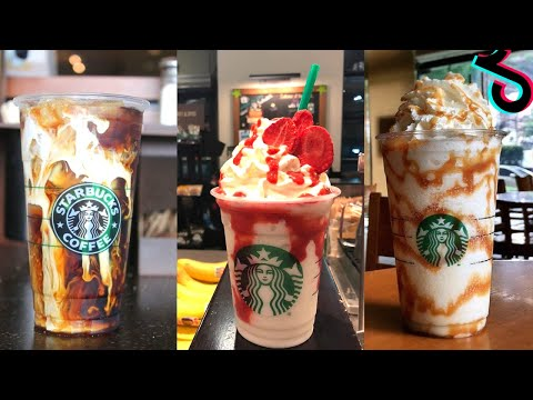 Making Starbucks Drinks TikTok - Best Starbucks Drinks On Tik Tok - Tiktok Compilation