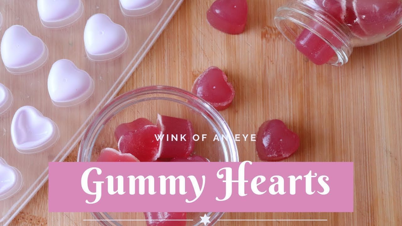 Fall in Love with Gummy Candy Hearts (or Gummy Bears) Kid-Friendly, Simple  Candy Recipe