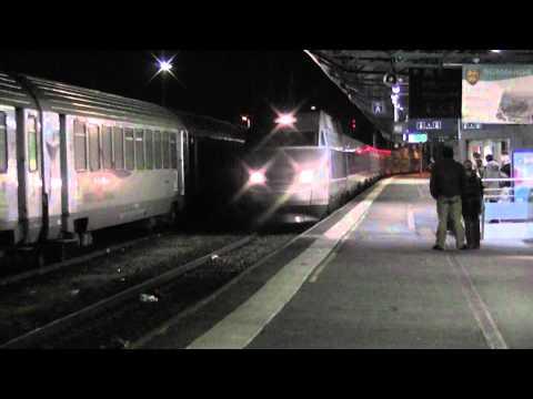 Arrivée de la rame 373 TGV A en gare de Caen
