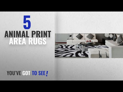 Top 10 Animal Print Area Rugs [2018 ]: Ottomanson Animal Print Zebra Design High Pile Soft Shag Area
