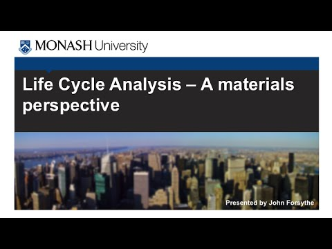 5.3 - Life Cycle Analysis: A materials perspective