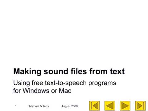 Sound Files made with Text-to-Speech software