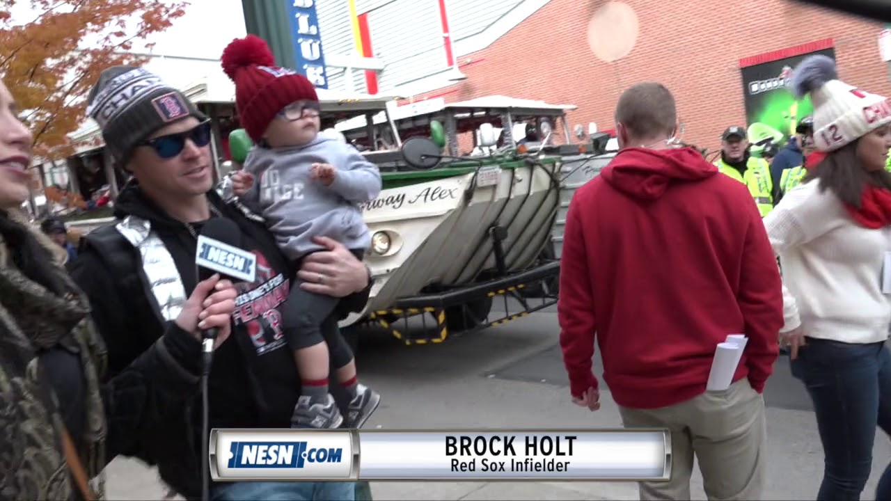 f481b9a2fa0c8c Brock Holt ahead of Red Sox 2018 World Series victory parade - YouTube
