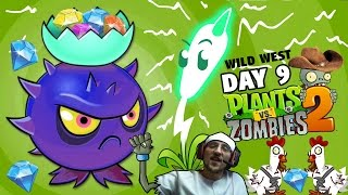 Lets Play PVZ 2: HOMING THISTLE, Good or Bad? + Lightning Reed Unlocked (Day 9 Wild West Gameplay)