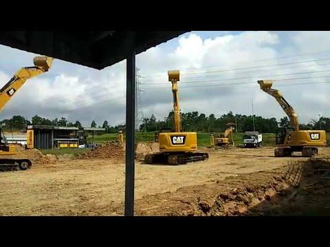 Atraksi Excavator Cat320 Terbaru 2019