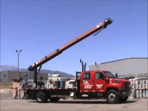 Sold 2004 Gmc C6500 Flatbed Roofing Conveyor Truck 31