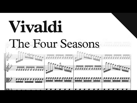 Vivaldi  The Four Seasons Le quattro stagioni, Op8  Sheet Music