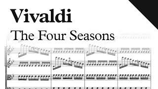 Vivaldi - The Four Seasons, Op. 8  (Sheet Music)