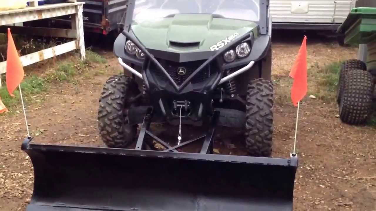 John Deere Gator Plow >> John deere 850i gator snow plow - YouTube