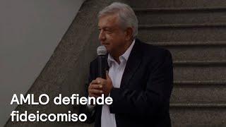 AMLO defiende la legalidad del fideicomiso de Morena - En Punto con Denise Maerker