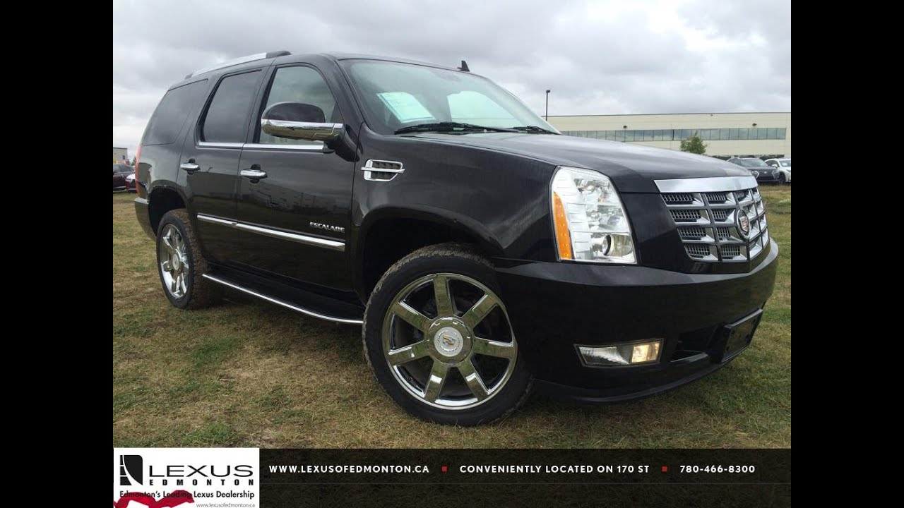 pre owned black 2012 cadillac escalade awd luxury in depth review grande prairie alberta youtube. Black Bedroom Furniture Sets. Home Design Ideas
