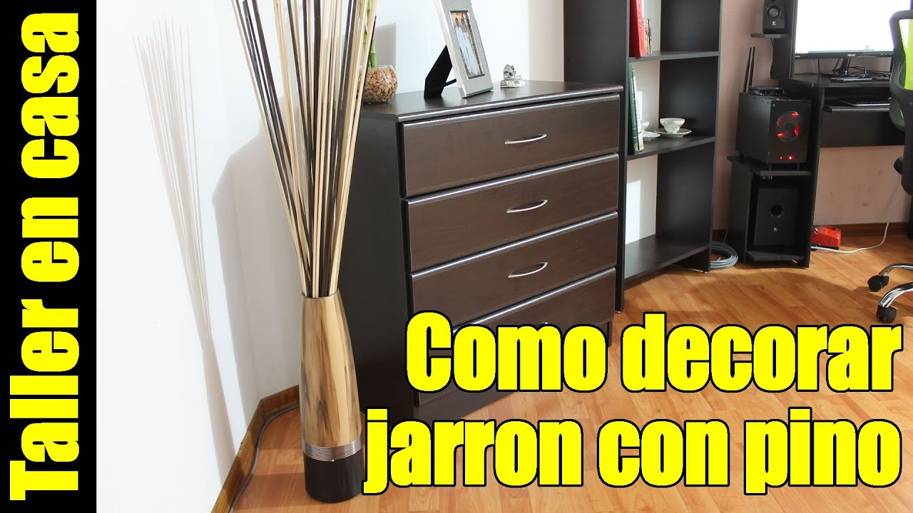 Hagalo usted mismo decoraci n de jarrones por menos de 2 usd youtube - Decorar jarrones altos ...