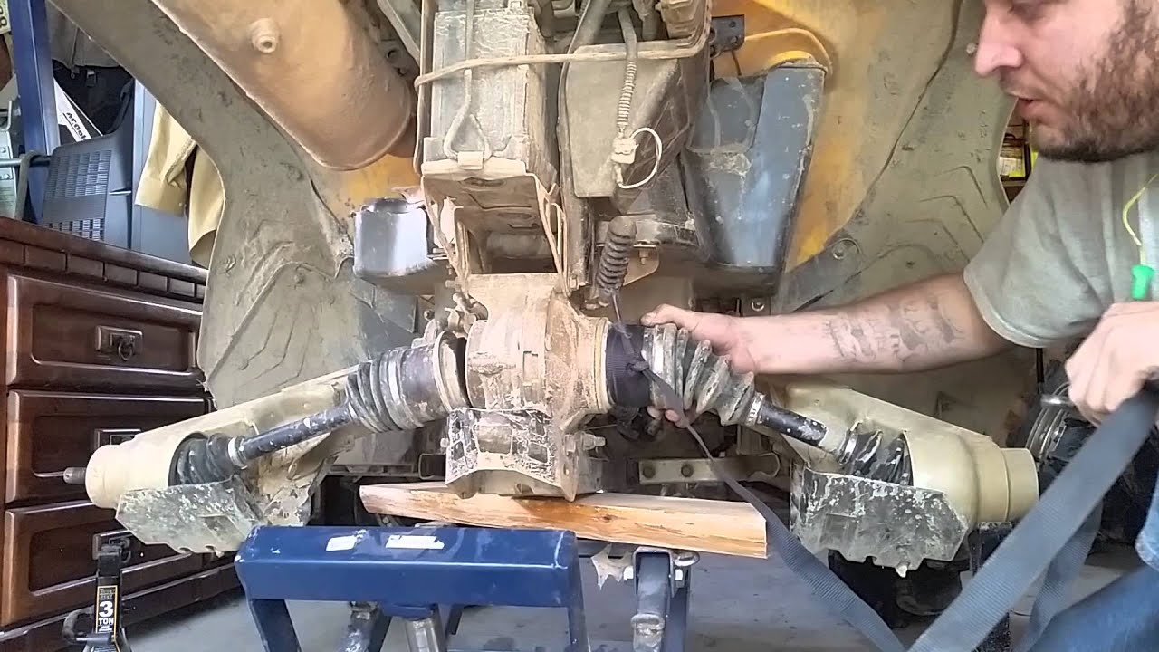 can am renegade  outlander easy cv axle removal
