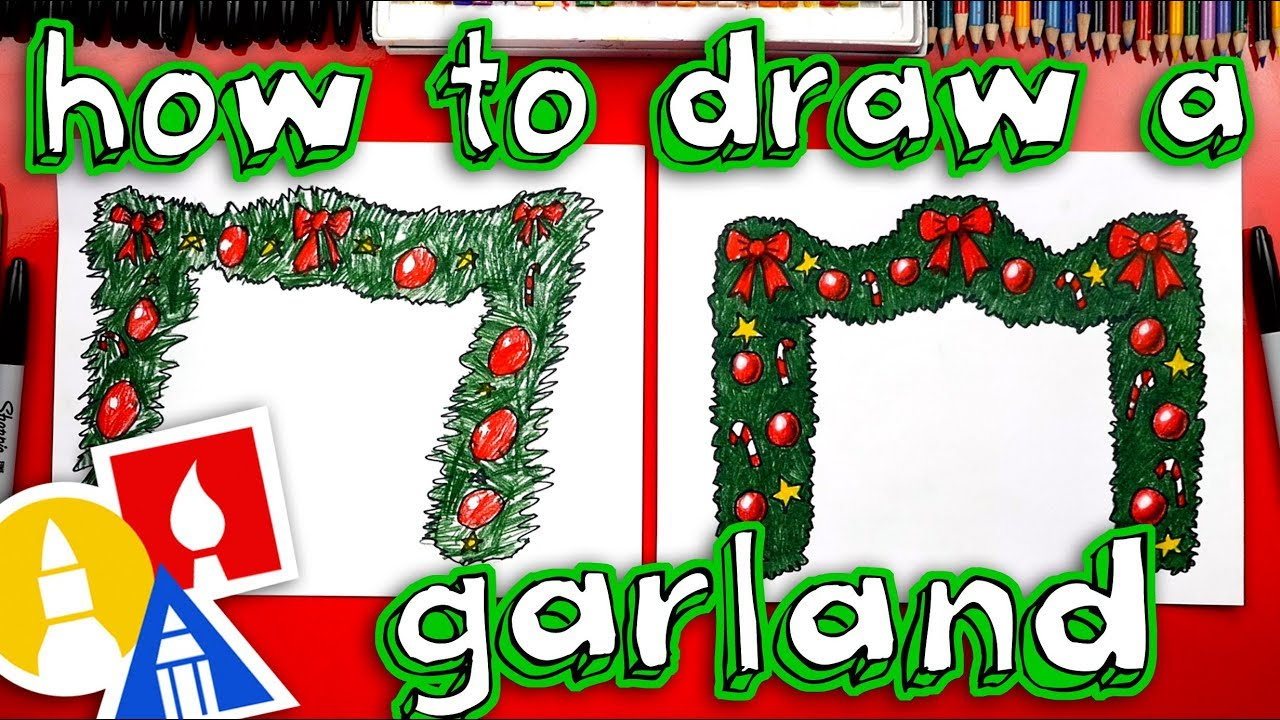 How To Draw Christmas Garland